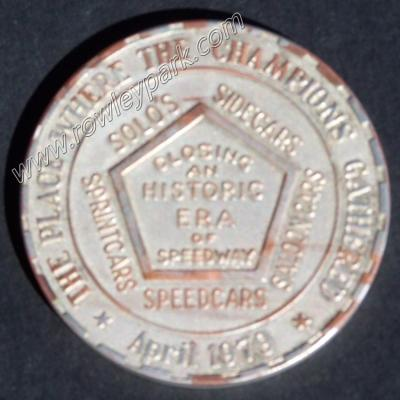 Speedway Commemorative Coin