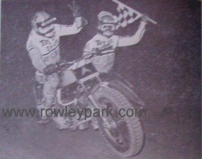Deane Taylor and passenger Steven Lewis in 1978.