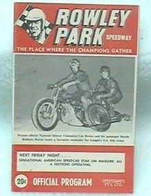1968 / 69 Rowley Park Program