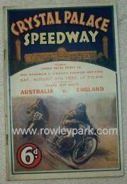 Crystal Palace Speedway.
