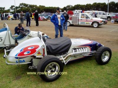 Falcon Roadster Midget  and Glen Dix.