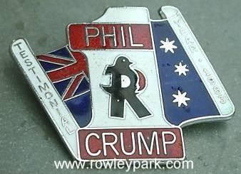 Phil Crump badge.